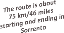 The route is about 