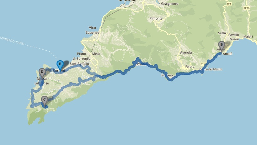 Vespa Tour Sorrento to Positano and Amalfi